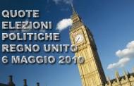Scommesse elezioni politiche Regno Unito - 6 maggio 2010
