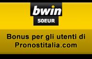 Bwin - super bonus riservato agli utenti di Pronostitalia