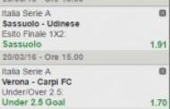 La multipla di Serie A del 20 marzo 2016