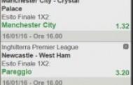 La multipla di Premier League del 16 gennaio 2016