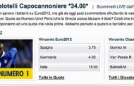 Scommesse Euro 2012 quote speciali da William Hill