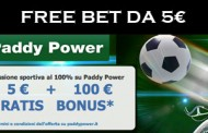 Paddy Power arriva in Italia con una freebet