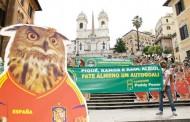 Gufata in Piazza di Spagna in favore dell'Italia per Euro 2012