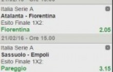 La multipla di Serie A del 21 febbraio 2016