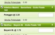La multipla di Champions League del 12 e 13 aprile
