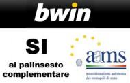 Bwin ringrazia AAMS per il palinsesto complementare