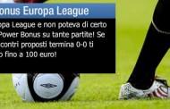 Scommesse Europa League arriva il Power Bonus del 20 settembre 2012