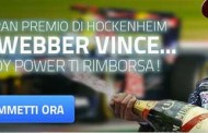 Se Webber vincerà GP di Hockenheim tu sarai rimborsato