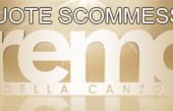 Quote scommesse Festival di Sanremo 2013
