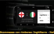 Scommesse Inghilterra-Italia rimborsate se perde l'Italia