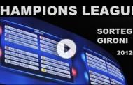 Sorteggio gironi Champions League 2012-2013