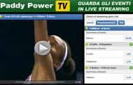 Guarda le partite in live streaming sulla web tv di Paddy Power