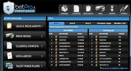 betpro poker league
