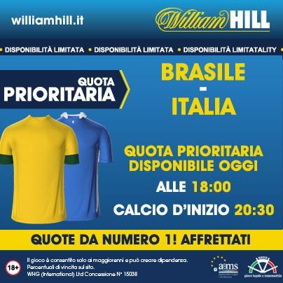 Gioca Brasile Italia ad una super quota