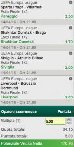 La multipla di Europa League del 14 aprile 2016