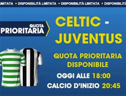 Celtic Juve quota prioritaria
