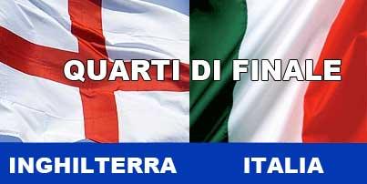 Inghilterra Italia quarti