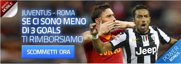 power bonus Juve Roma