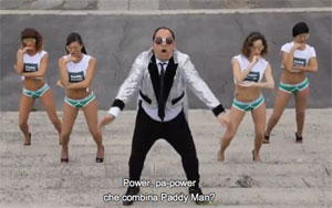 Paddy Man parodia Gentleman PSY