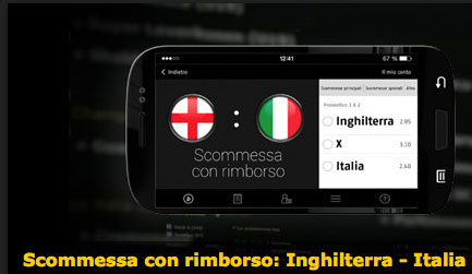 bwin rimborsa le scommesse se Italia perde
