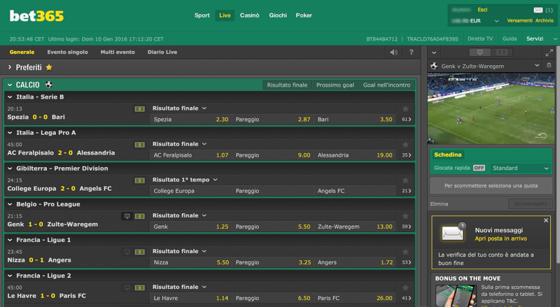 scommesse live bet365
