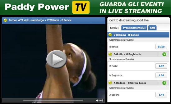 Guarda le partite in live streaming