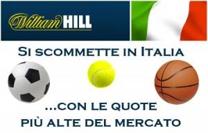 William Hill scommesse Italia